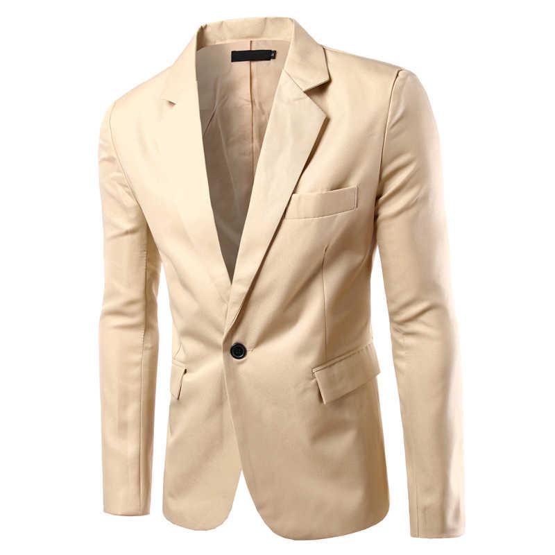 高級男性ブレザー春の新作ファッションブランド高品質の綿スリムフィット男性スーツ Terno の Masculino ブレザー男性スーツ & ブレザー
