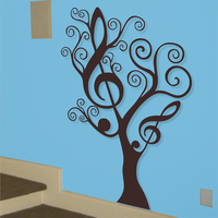 New 2016 Removable MUSIC TREE Wall Art Vinyl Decals Wall Stickers Home Decor Large Size 112x80CM