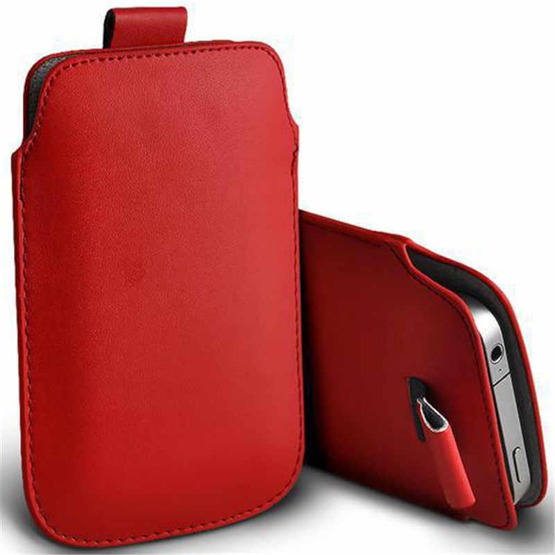 Untuk OnePlus 5 T Kasus Tab Tarik Lengan Saku Tali Cover Case untuk Satu Ditambah 7 T 2019 7 T onePlus 5 T Pro Kulit Ponsel Tas Kasus