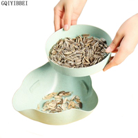 New Plastic Open Double Layer Candy Snacks Dry Fruit Melon Seeds Holder Storage Box Dish Tray