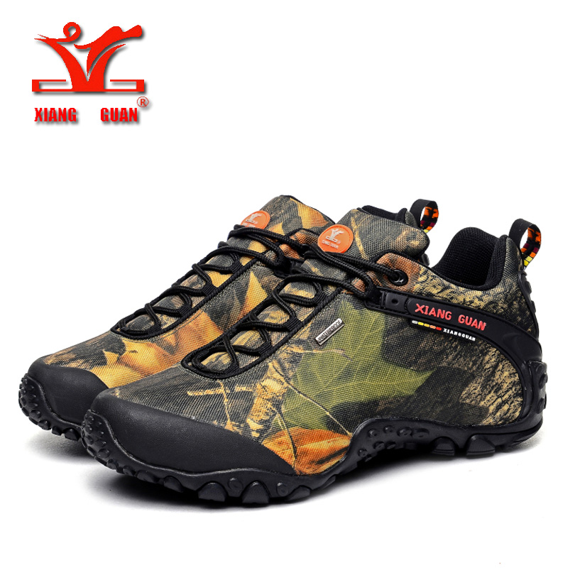 XIANGGUAN man outdoor waterproof canvas hiking shoes hunting shoes boots skid Wear resistant breathable fish climbing snekaers