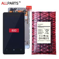 100 Tested Original AMOLED 800x480 Display For NOKIA Lumia 800 LCD Touch Screen With Frame Digitizer