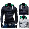 New 2016 Spring & Autumn Fashion Assassins Creed Men's Casual Hoodies & Sweatshirts Solid Slim Cotton Hoody Double Pocket Jacket