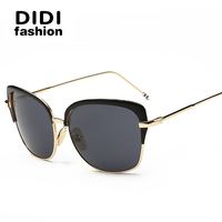 NEW Style Brand Designer Women Sunglasses UV400 Metal Frame Multi Color Classical Cat Eye Oculos De