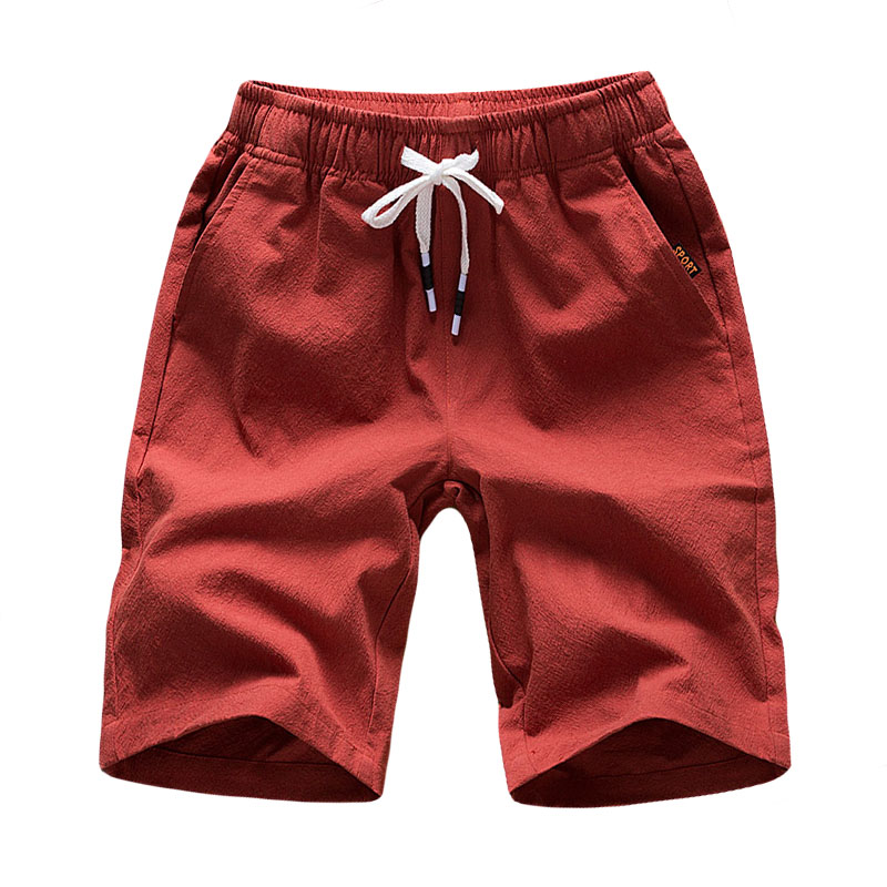 4XL 5XL 2019 New Men's Harlan Shorts For Men Summer Solid Breathable Elastic Waist Casual Linen Shorts Male 6 Colors