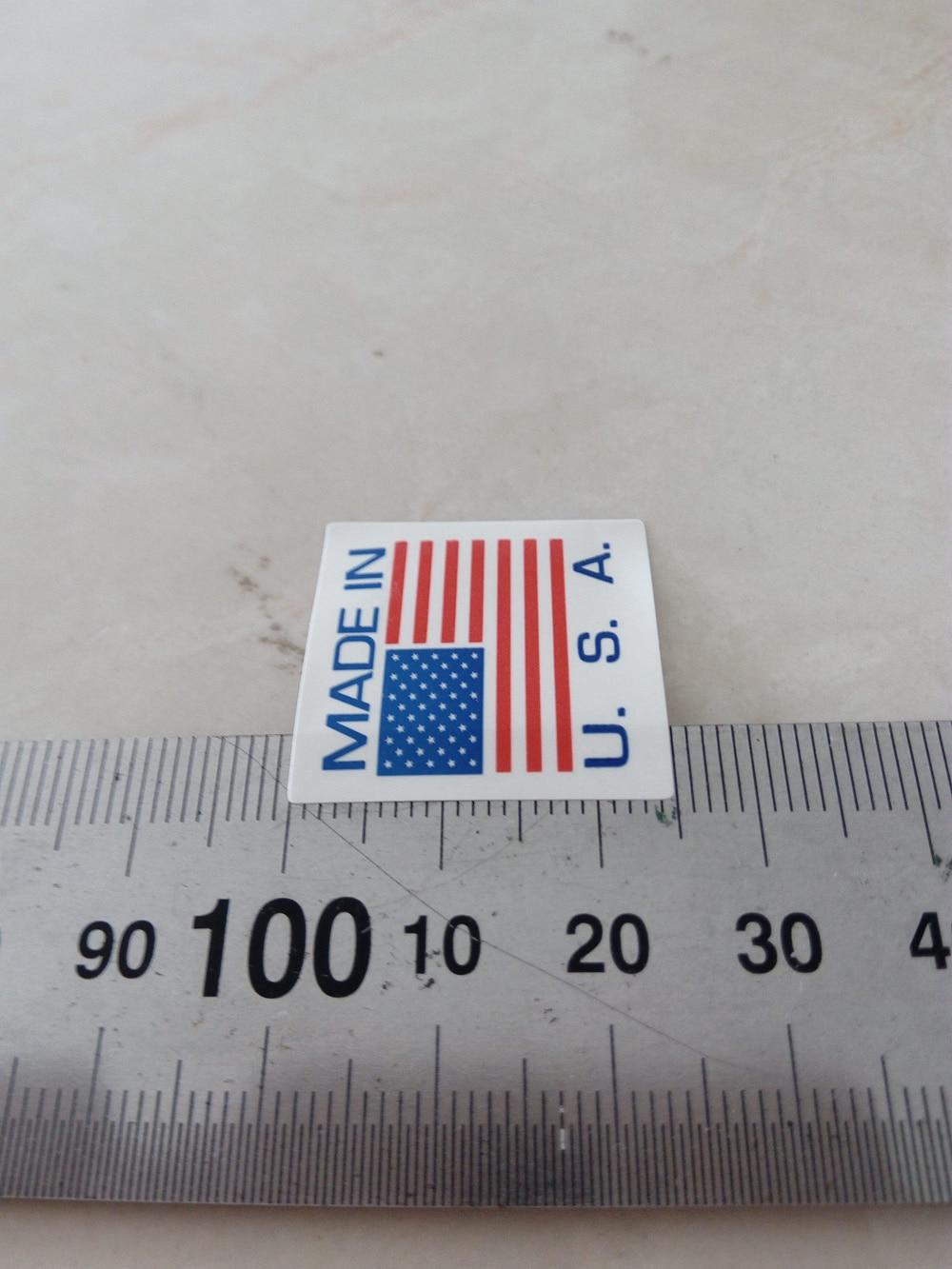 10000 шт./лот 25x25 мм Сделано в США. s. самоклеющиеся бумажная этикетка наклейка для продуктов, арт. SL10