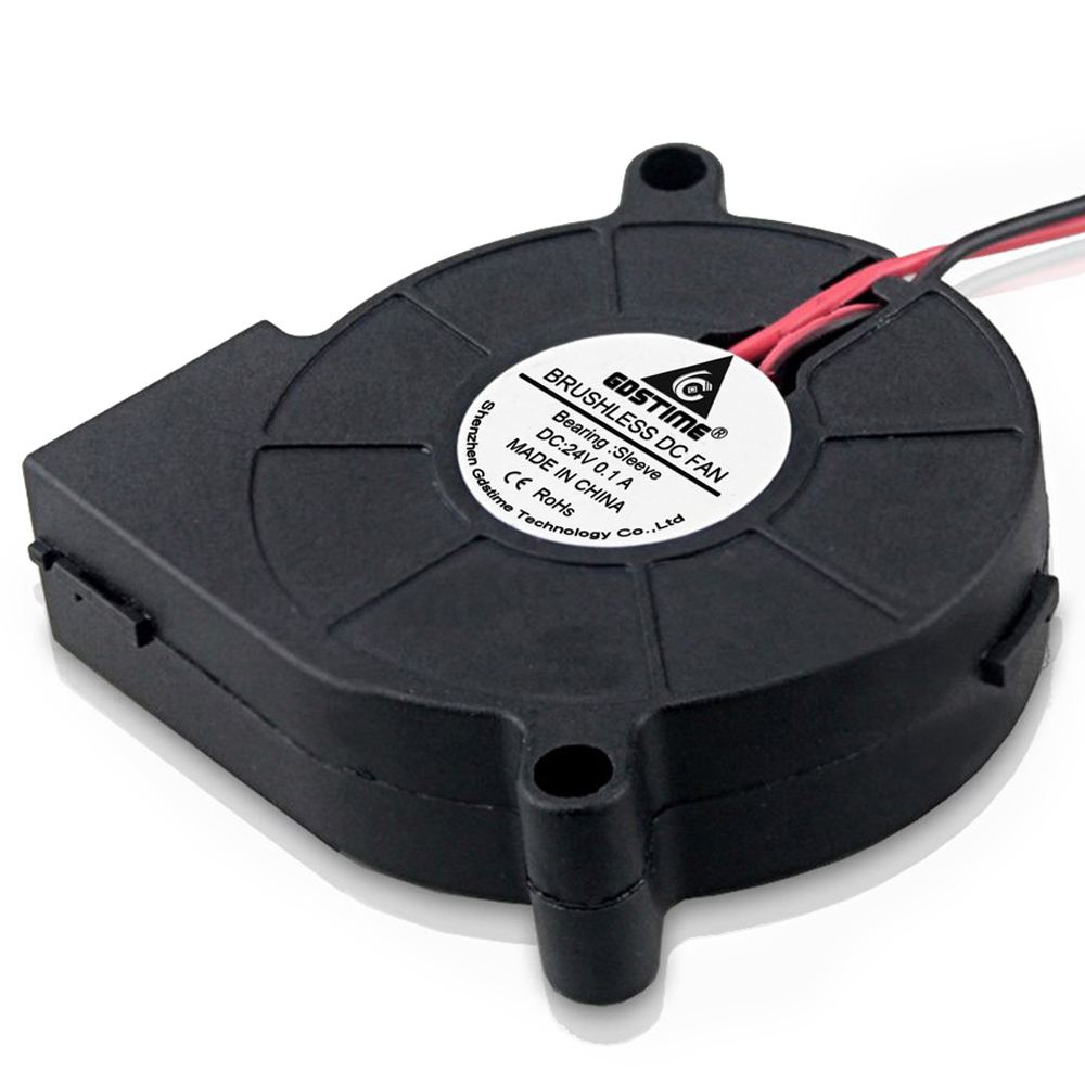 1 Piece Gdstime 5015 Blower Fan DC 24V 2 Pin 50x50x15mm Computer PC Case Cooling Cooler 50MM in Fans Cooling from Computer Office