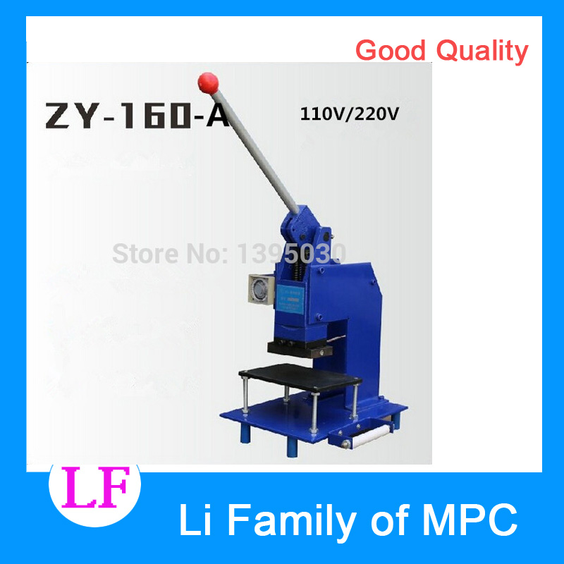 110V ZY-160-A manual hot foil stamping machine manual stamper leather embossing machine Printing area 100*60MM desktop pneumatic plane hot stamping foil machine lz 90 b card leather stamping shoes logo stamper
