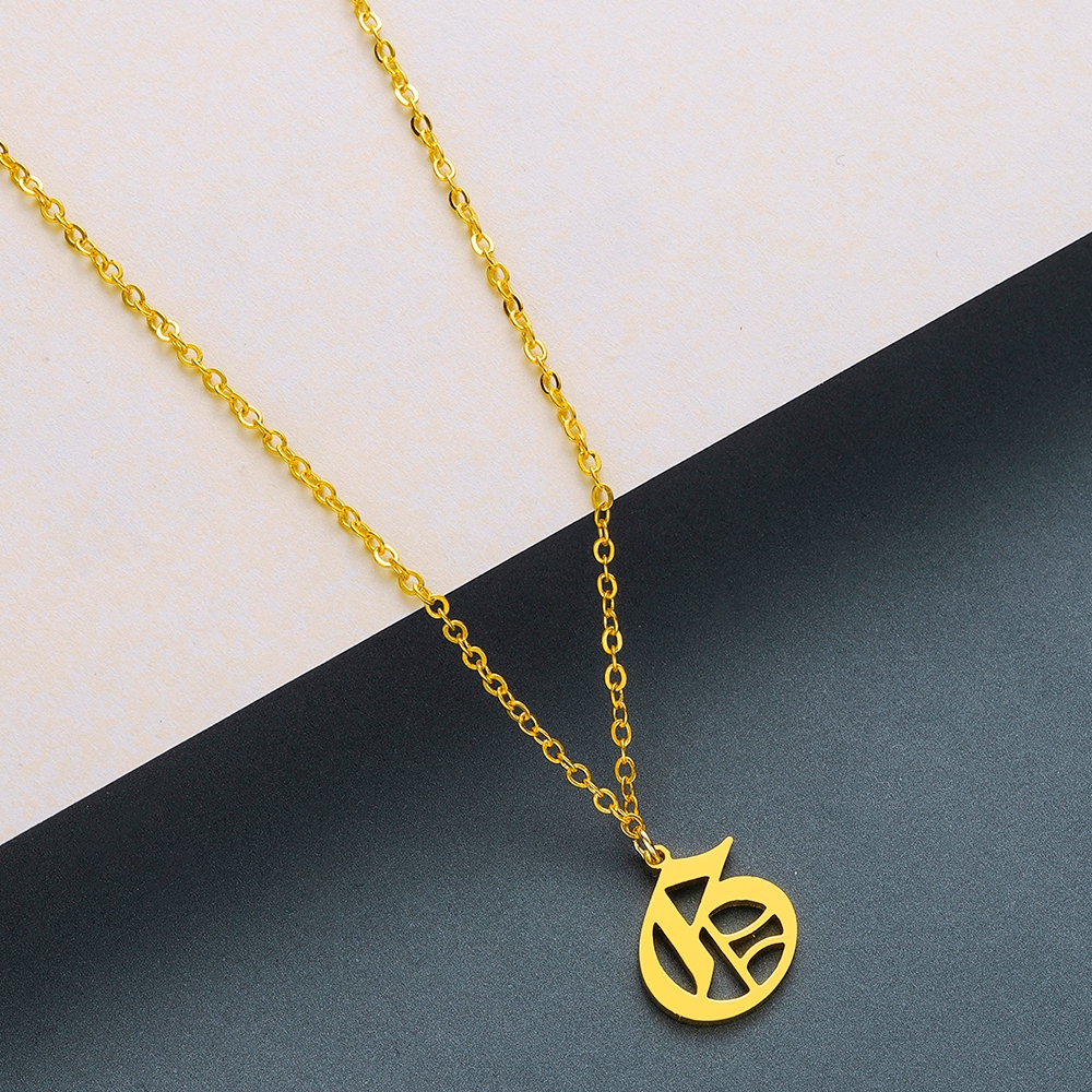 Todorova Old English Custom Capital Initial A-Z Letter Pendant Necklace Men Vintage Font Personalized Necklace Women Jewelry 20