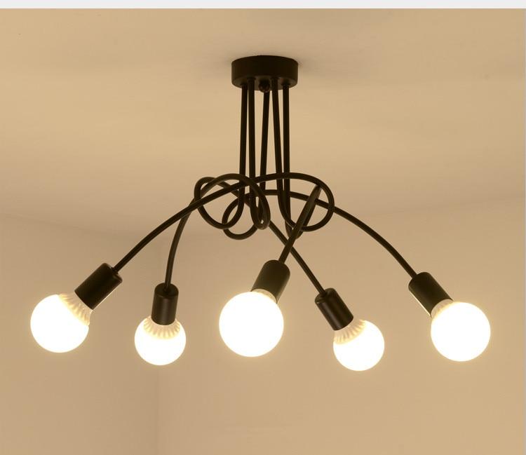 Lights & Lighting Pendant Lights Vintage Industrial Loft Chandelier Ceiling Lamp Retro Antique Industrial Cottage With 5 Lights 110-240v Black Lighting Lamps Dec