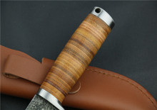 2016 Manual forging pattern steel hunting knife handle Outdoor knife Camping high hardness