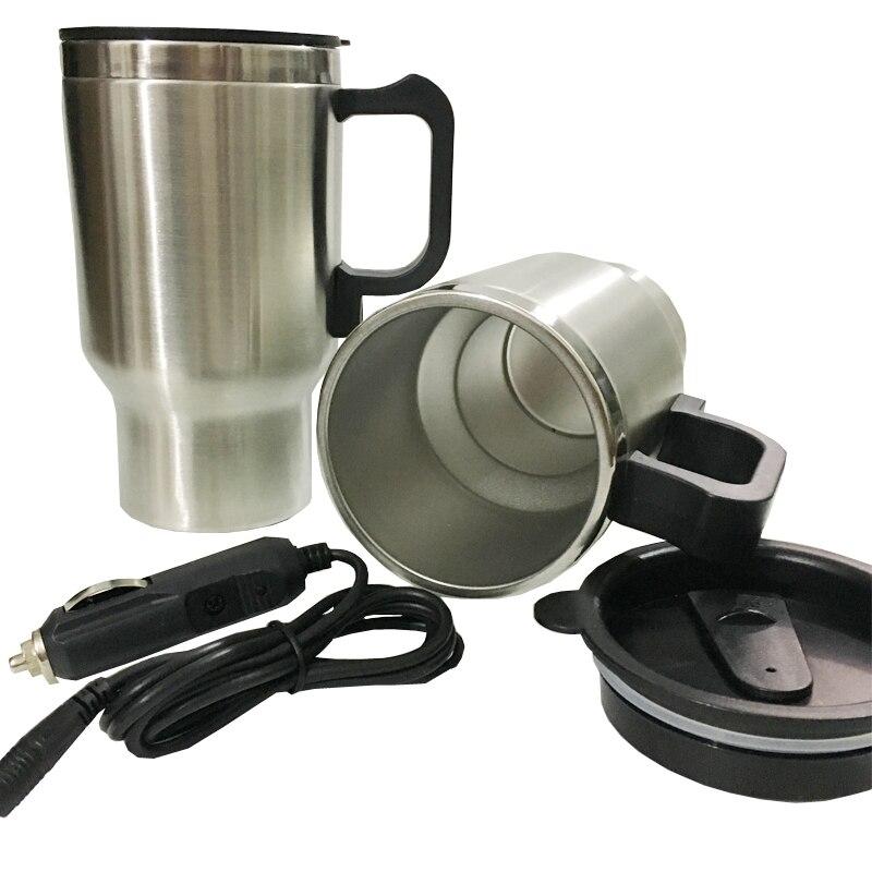Tasse de chauffage de voiture 12 V bouilloire électrique voitures chauffe eau thermique tasses bouteille d'eau bouillante voiture tasse à café adaptateur automatique 450 ML|adapter 12v|adapter auto|adapter car -