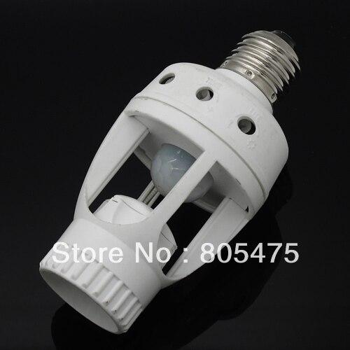 Best selling!  AC 220V 360 Degrees Human Motion Sensor infrared 60W PIR E27 Led Bulb tube Holder base 3148