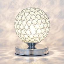 Simple Modern Crystal Table Lamp Bedroom Bedside E27 Creative Fashion Bed Ball Living Room led Desk