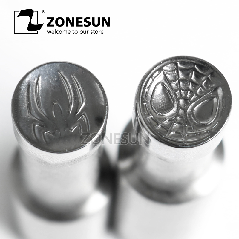 ZONESUN Spiderman Single Tablet Punch Machine Mold Press Custom Sugar Tablet Stamping Die Logo TDP0 1.5 3 5 Mould Making Machine 1 set dies & punches with stamp single punch tablet press machine dies design mould with single side logo