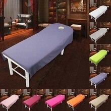 80 см* 190 см простыни для салонов, спа массаж, лечение, полиэфирное листовое покрытие для стола с отверстием для массажа, красивая кровать, домашний текстиль