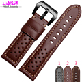 2016 Genuine Leather Watch Band Strap for P Watch 22mm 24mm 26mm With Silver Stainless steel Buckles