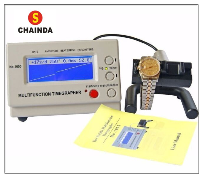 Weishi 1000 Mechanical Watch Timing Machine Watch Timegrapher for Watch Repair+ 1pc Cleaning Cloth hot sell weishi no 6000iii multifunction timegrapher watch timing machine for watch repair