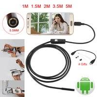 Endoscope 5 5mm Lens 6LED Micro USB Android Endoscope Camera 1M 1 5M 2M 3 5M