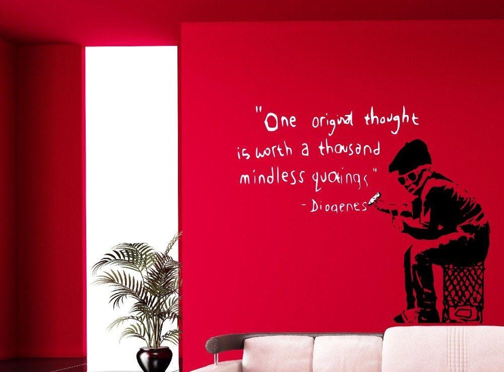 ᗖBanksy graffiti una idea original vale .. Adhesivos de pared ...
