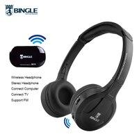Original Bingle B616 Wireless Headphones Multifunction stereo FM radio headsets NdFeB pronunciation unit for TV PC smartphone
