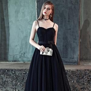 Image 5 - FADISTEE חדש הגעה מודרני מפלגה שמלת ערב שמלות נשף טול Vestido דה Festa שחור סטרפלס דפוס טול ארוך סגנון