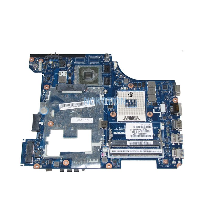 NOKOTION Laptop Motherboard For Lenovo G480 11S900001 QIWG5_G6_G9 LA-7981P HM77 DDR3 GT610M Video Card 1GB Main board