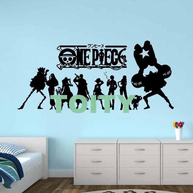 29 designs one piece japan anime cool art wall decals luffy zoro