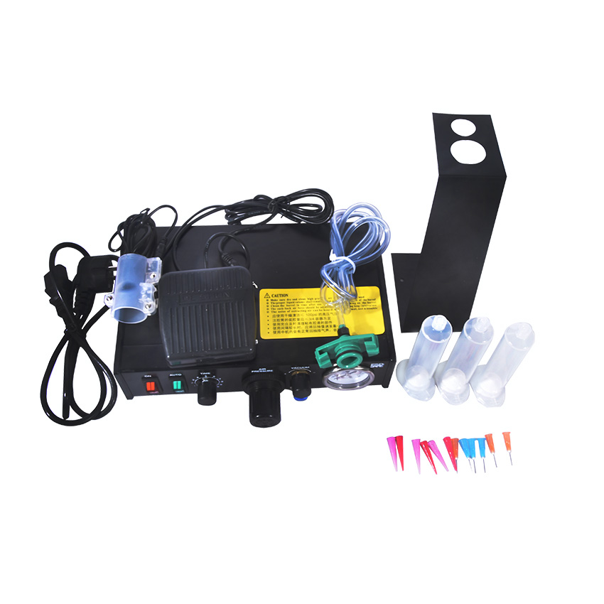 FT-982 Semi-automatic Glue Dispenser Glue Dispenser machine Glue Dispenser Solder Paste Liquid Controller 110v/220v manual 53cm wallpaper glue coating machine coater wallpaper paste cementing gumming starching gluing machine