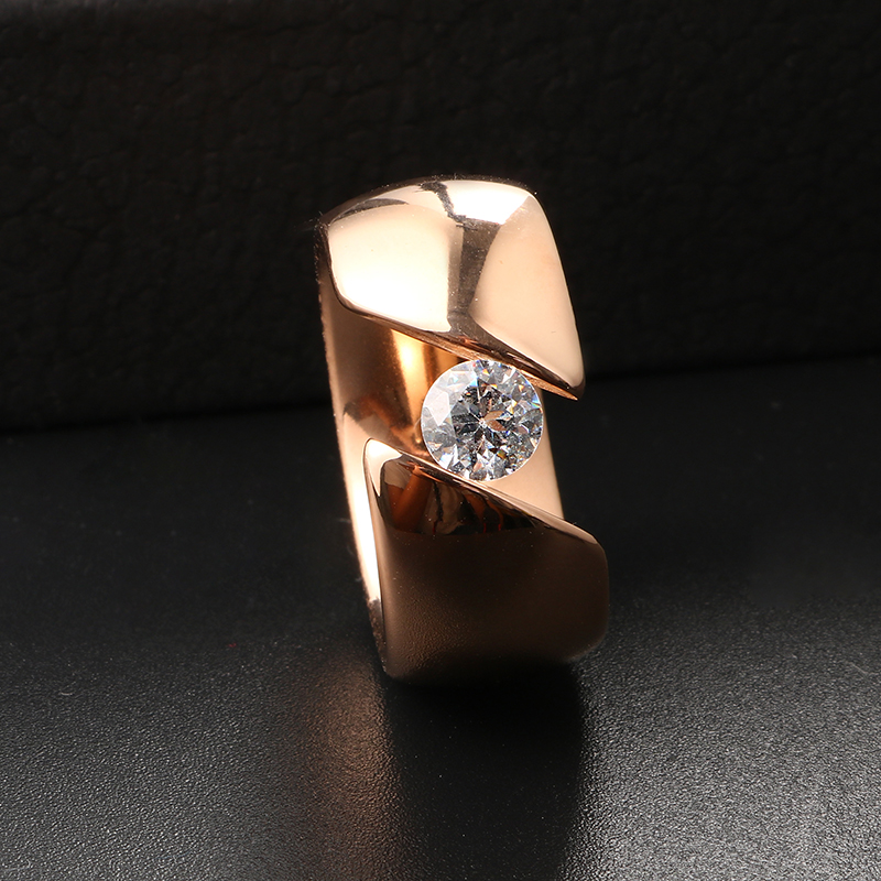 charm steel silver ring wedding girl jewelry woman rose female gold rings accessories stainless in item s acrylic women from