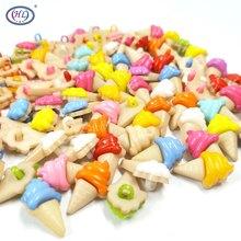 HL – tiges de crème glacée avec boutons en plastique, 100 pièces, mélange de couleurs, accessoires de Scrapbooking, bricolage, vêtements pour enfants, points de couture