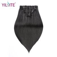 Yiliteナチュラルブラックダブル描かレミーインド人間の髪の毛のエクステンション