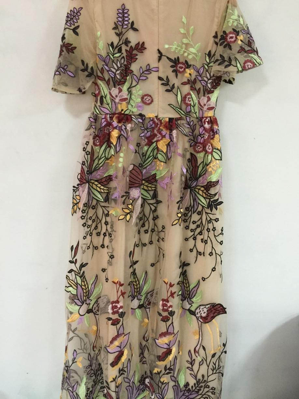 HAMALIEL Boho Style Summer Long Dress 2018 Luxury Embroidey Floral ...