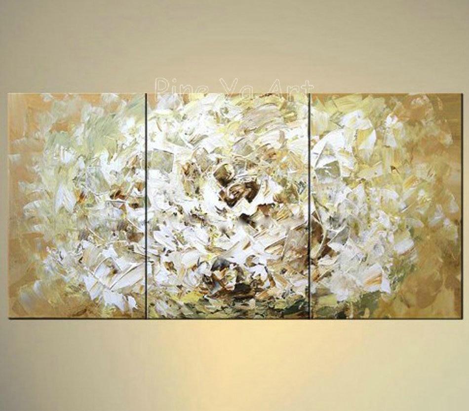 3 piece abstract modern canvas wall art decorative golden rose picture font b knife b font