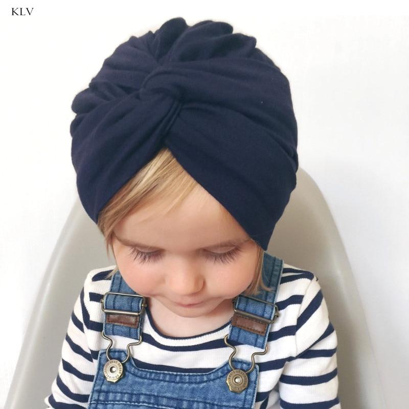 Cute Baby Hat Cotton Soft Turban Knot Summer Hat Newborn Cap For Baby Girls