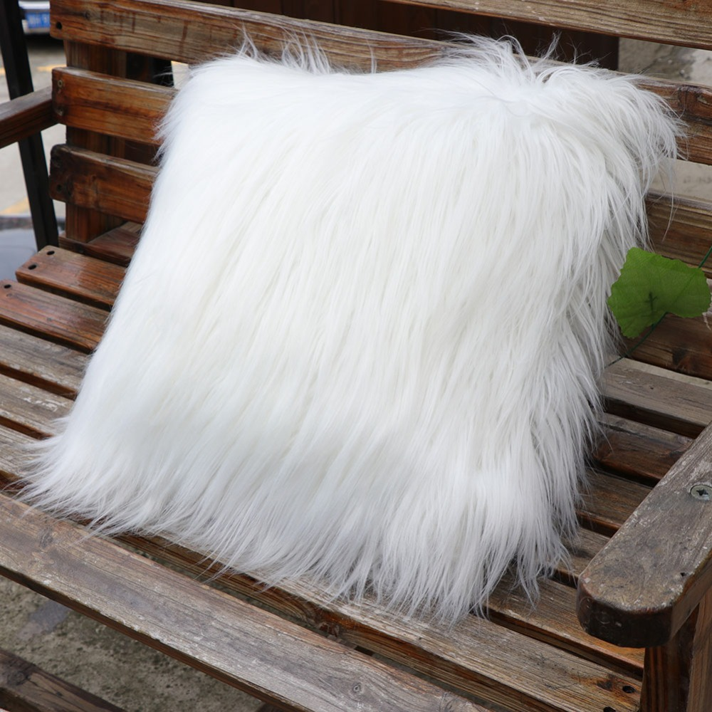 Faux Fur Table Runner Soft Gy