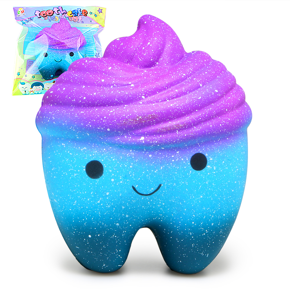 Squishy Galaxy Tooth : Cute Squishy Galaxy Tooth Squishies Super Slow Rising Cream Scented Original Package Squeeze Toy ...
