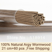 100% Natural Health Argy Wormwood Incense Sticks 21cm+60sticks Herbal Incense Antiseptic Mosquito Repellent Anti-Odour