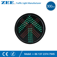 12 Inches 300mm Red Cross Green Arrow LED Traffic Lamp Repaired LED Traffic Signal Light Parking