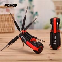 цена Multi-function screwdriver set 8-in-1 repair tool screwdriver with LED flashlight car with screwdriver outdoor tools в интернет-магазинах