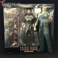 TOFOCO 17cm Iron Man Avengers Tony Stark Iron Man Action Figure Toys Ironman Christmas Gift Doll