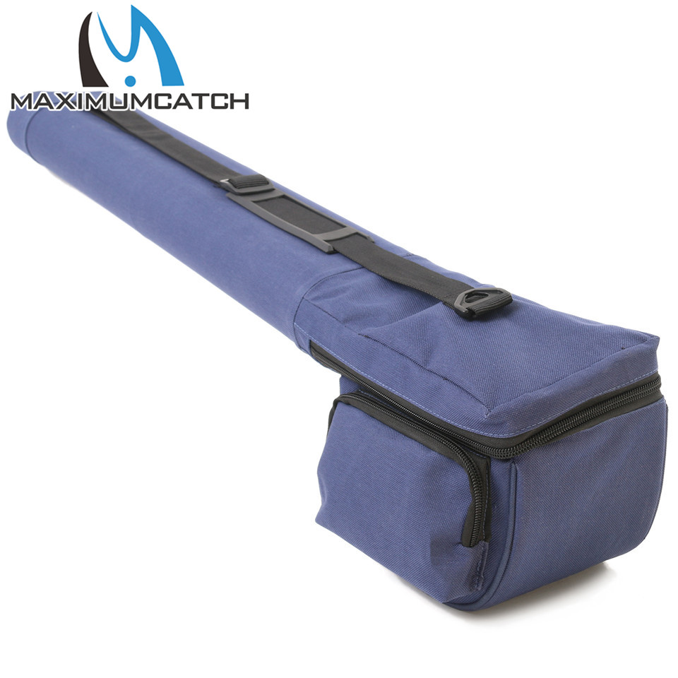 Maximumcatch 9FT/10FT Fly Fishing Rod Tube Fly Rod Reel Case Hold Double 4Sec Rods Cordura Fly Rod Storage