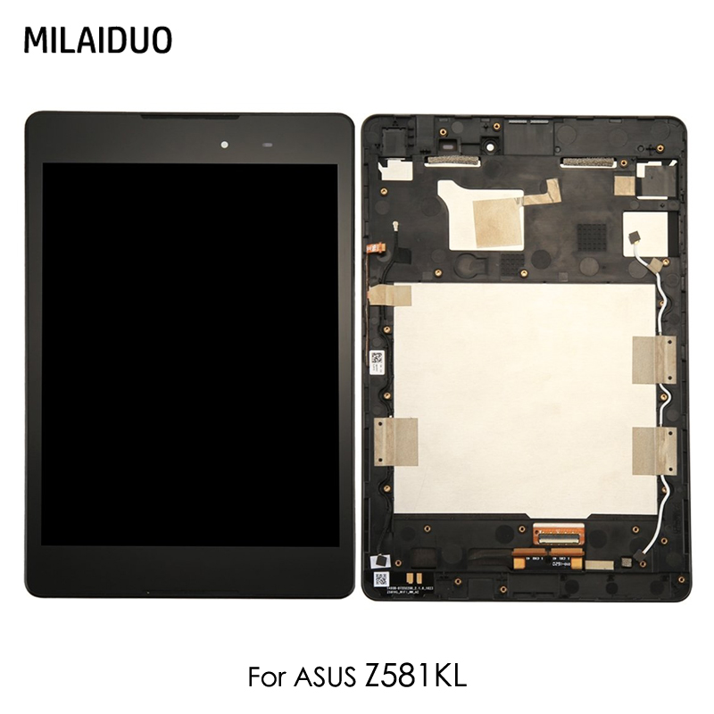 Écran LCD pour ASUS ZenPad 3 Z581KL écran tactile panneau numériseur tablette assemblée noir avec cadre de remplacement 7.9 pouces pas de Logo