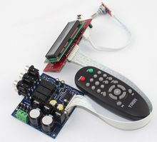 PGA2311U remote control volume Pre-amplifier board / three input switch / signal switching pre finished board(China)