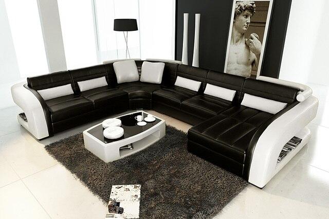 Hot meubelen europese stijl sofa moderne hoekbank set ontwerpen