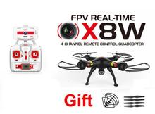 Syma X8W 2.4G 4CH RC Quadcopter RC Drone RC helicopter  with 2MP wifi FPV  Camera free shipping
