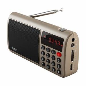 Image 2 - Rolton t50 휴대용 세계 밴드 fm/mw/sw 스테레오 라디오 스피커 mp3 음악 플레이어 sd/tf 카드 pc 아이팟 전화