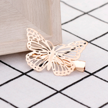 Amaing Coming Golden Butterfly Hair Accessories Hair Clip Headpiece Hair Head Side Decor Wedding Jewelry