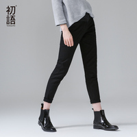 To Youth 2015 Capris Summer Fashion Women Embroidery Pants Cotton Business Casual Pencil Pants Trousers Women