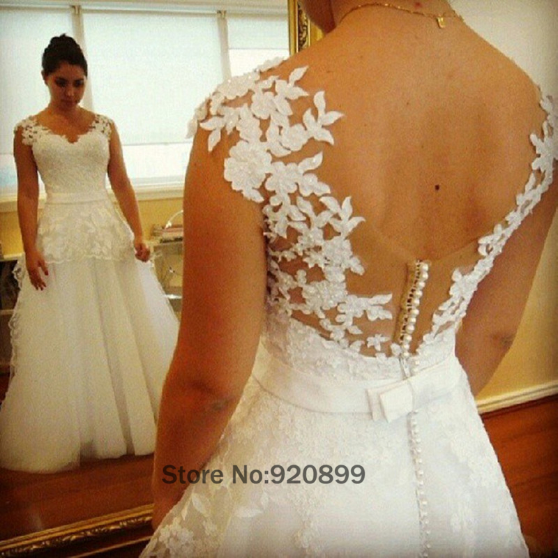 Simple Wedding Gowns Indian Summer Tulle Lace Bridal Dresses Boho ...